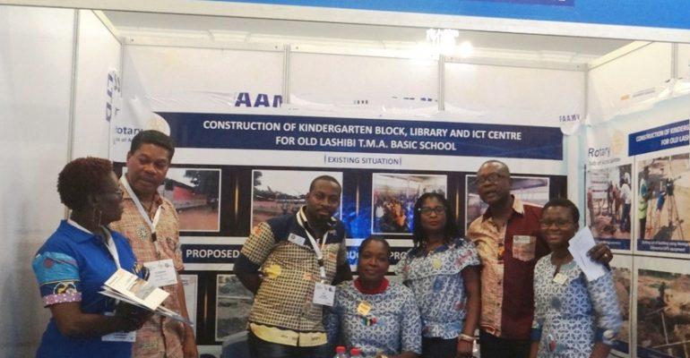 Rotary Club of Accra Spintex's Tsand at the WAPF